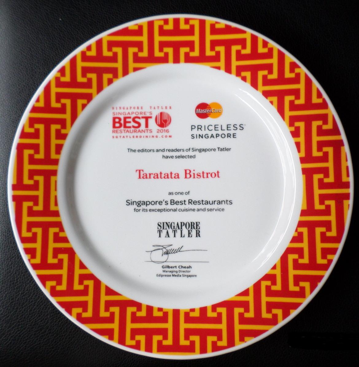 Taratata Bistrot awarded the Best Restaurants 2016