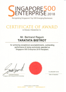 Singapore 500 Enterprise Award 2018