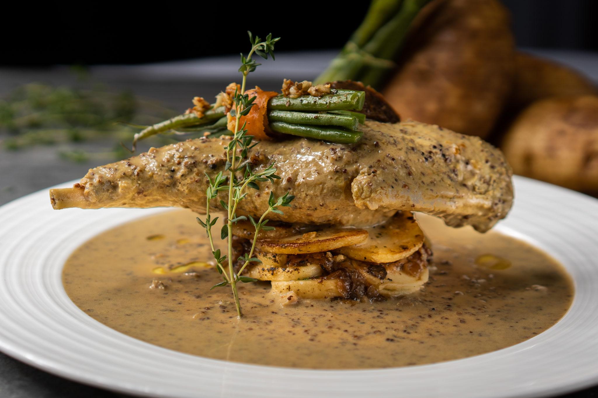 Taratata Brasserie - Rabbit Leg in Mustard Sauce